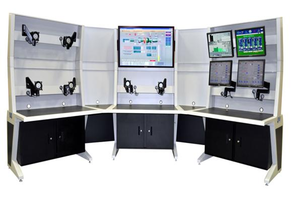 AgileVIEW Control Room Console with Privacy Panels