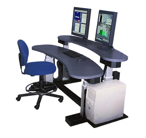 ErgonomicVIEW Dual Top Adjustable Height Workstation