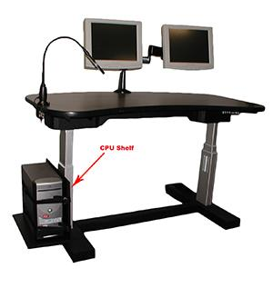 ErgonomicVIEW CPU Shelf Options