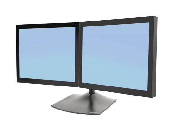Ergotron DS100 Dual Monitor Desk Stand, Horizontal-33-322-200